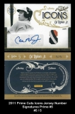 2011 Prime Cuts Icons Jersey Number Signatures Prime #5