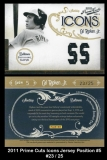 2011 Prime Cuts Icons Jersey Position #5