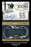 2011 Prime Cuts Icons Jersey Position Signatures #5