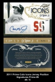 2011 Prime Cuts Icons Jersey Position Signatures Prime #5