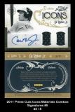 2011 Prime Cuts Icons Materials Combos Signatures #5