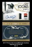 2011 Prime Cuts Icons Materials Combos Signatures Prime #5