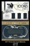 2011 Prime Cuts Icons Materials Trios #5