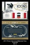 2011 Prime Cuts Icons Materials Trios Prime #5
