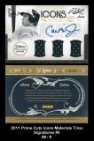 2011 Prime Cuts Icons Materials Trios Signatures #5