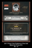 2011 Prime Cuts Emblems of the Hall Materials Prime #10