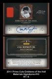 2011 Prime Cuts Emblems of the Hall Materials Signatures #10