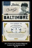 2011 Prime Cuts Timeline Materials Custom City Signatures #19