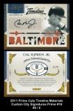 2011 Prime Cuts Timeline Materials Custom City Signatures Prime #19
