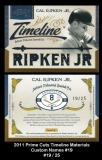 2011 Prime Cuts Timeline Materials Custom Names #19