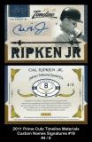 2011 Prime Cuts Timeline Materials Custom Names Signatures #19