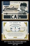 2011 Prime Cuts Timeline Materials Custom Nicknames #19