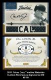 2011 Prime Cuts Timeline Materials Custom Nicknames Signatures #19