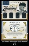 2011 Prime Cuts Timeline Quads Materials #19