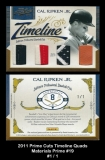 2011 Prime Cuts Timeline Quads Materials Prime #19