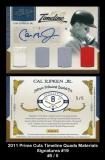 2011 Prime Cuts Timeline Quads Materials Signatures #19