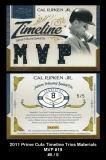 2011 Prime Cuts Timeline Trios Materials MVP #19