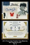 2011 Prime Cuts Timeline Trios Materials MVP Signatures #19