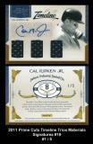 2011 Prime Cuts Timeline Trios Materials Signatures #19