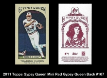 2011 Topps Gypsy Queen Mini Red Gypsy Queen Back #167