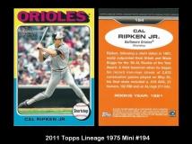 2011 Topps Lineage 1975 Mini #194