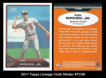 2011 Topps Lineage Cloth Stickers #TCS6