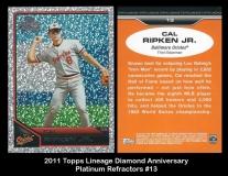 2011 Topps Lineage Diamond Anniversary Platinum Refractors #13