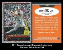 2011 Topps Lineage Diamond Anniversary Platinum Refractors #194