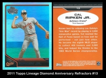 2011 Topps Lineage Diamond Anniversary Refractors #13