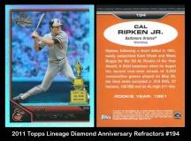 2011 Topps Lineage Diamond Anniversary Refractors #194