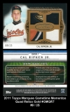 2011 Topps Marquee Gametime Mementos Quad Relics Gold #GMQR7