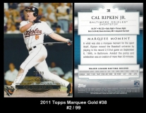 2011 Topps Marquee Gold #38