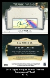 2011 Topps Marquee Titanic Threads Autographs #TTJA8