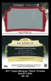2011 Topps Marquee Titanic Threads Red #TTJR40