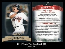2011 Topps Tier One Black #80