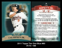 2011 Topps Tier One Blue #80