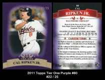 2011 Topps Tier One Purple #80