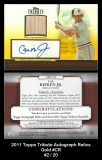 2011 Topps Tribute Autograph Relics Gold #CR