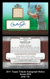 2011 Topps Tribute Autograph Relics Green #CR