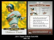 2011 Topps Tribute Gold #36