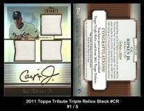 2011 Topps Tribute Triple Relics Black #CR