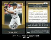 2011 Topps Triple Threads Gold #8