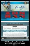 2011 Topps Triple Threads Relic Autographs Sapphire #TTAR93