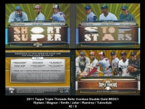 2011 Topps Triple Threads Relic Combos Double Gold #RDC1