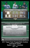 2011 Topps Triple Threads Relic Combos Emerald #TTRC52