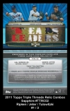 2011 Topps Triple Threads Relic Combos Sapphire #TTRC52
