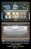 2011 Topps Triple Threads Relic Combos Sepia #TTRC52