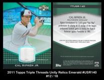 2011 Topps Triple Threads Unity Relics Emerald #USR140