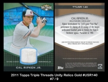 2011 Topps Triple Threads Unity Relics Gold #USR140
