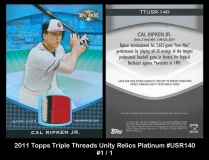 2011 Topps Triple Threads Unity Relics Platinum #USR140